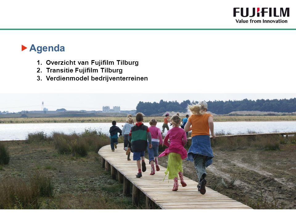 Agenda 1.Overzicht van Fujifilm Tilburg 2.Transitie Fujifilm Tilburg 3.Verdienmodel bedrijventerreinen