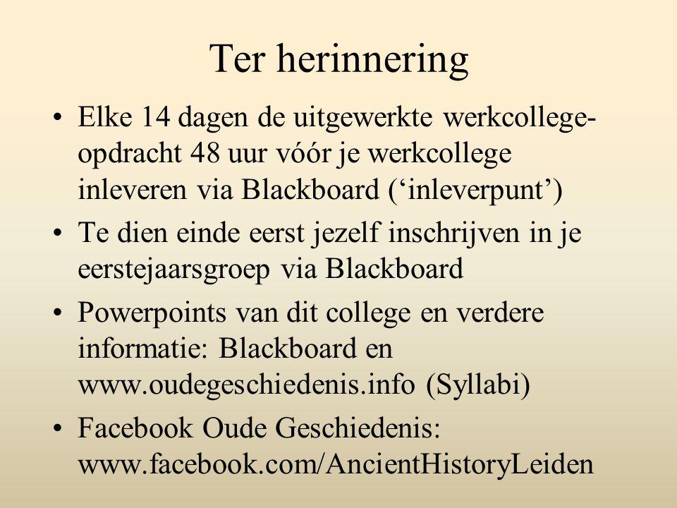 Vervolg eerste college ¶ 3 Het 3de en 2de millennium v.C.