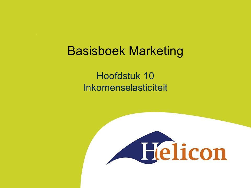 Basisboek Marketing Hoofdstuk 10 Inkomenselasticiteit