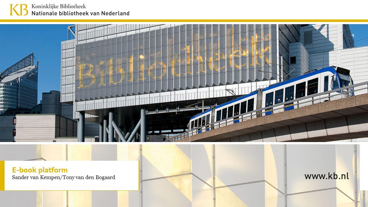 E-book platform Sander van Kempen/Tony van den Bogaard