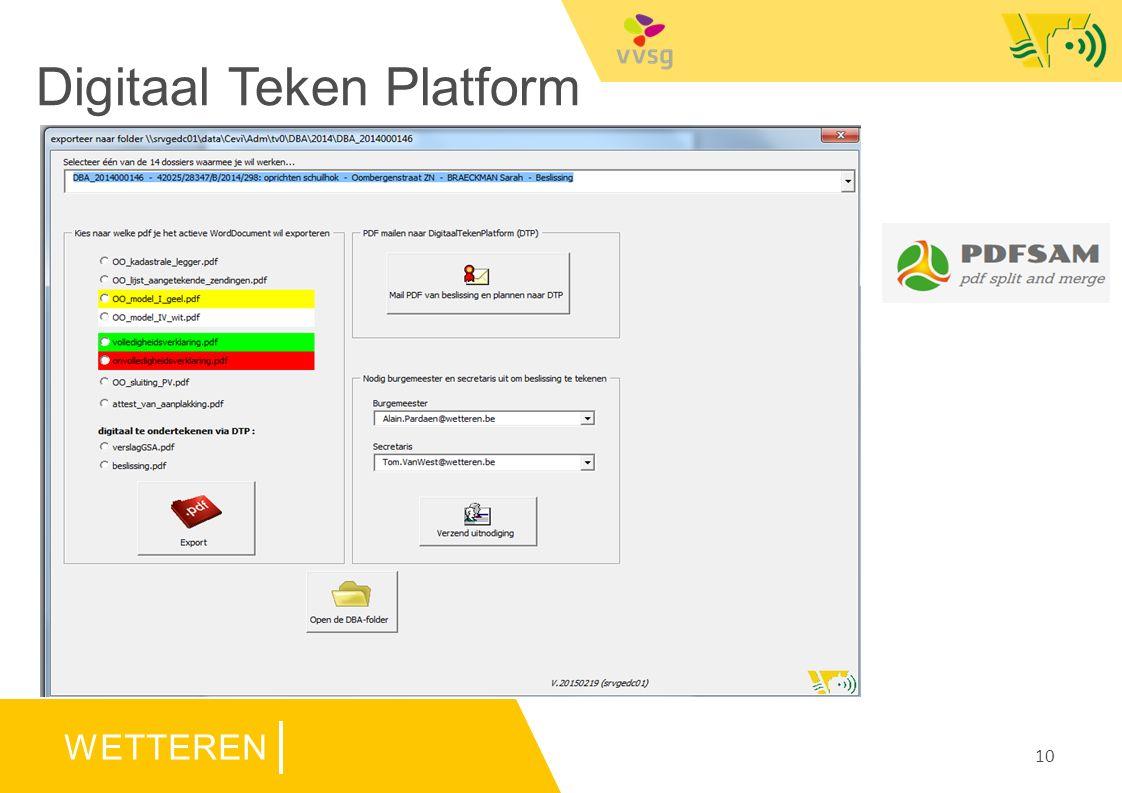 WETTEREN Digitaal Teken Platform 10