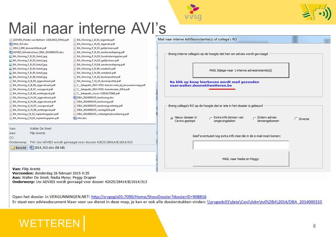 WETTEREN Mail naar interne AVI's 8