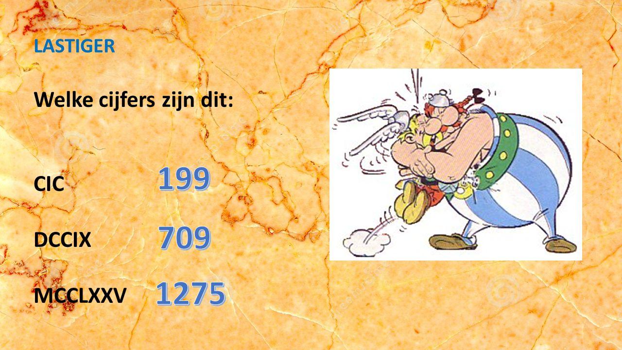Welke cijfers zijn dit: LIV XXIX XVIII EENVOUDIG