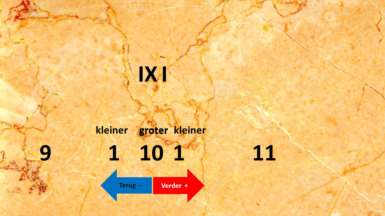 XII 1101 Verder + Terug - 119 groterkleiner groter