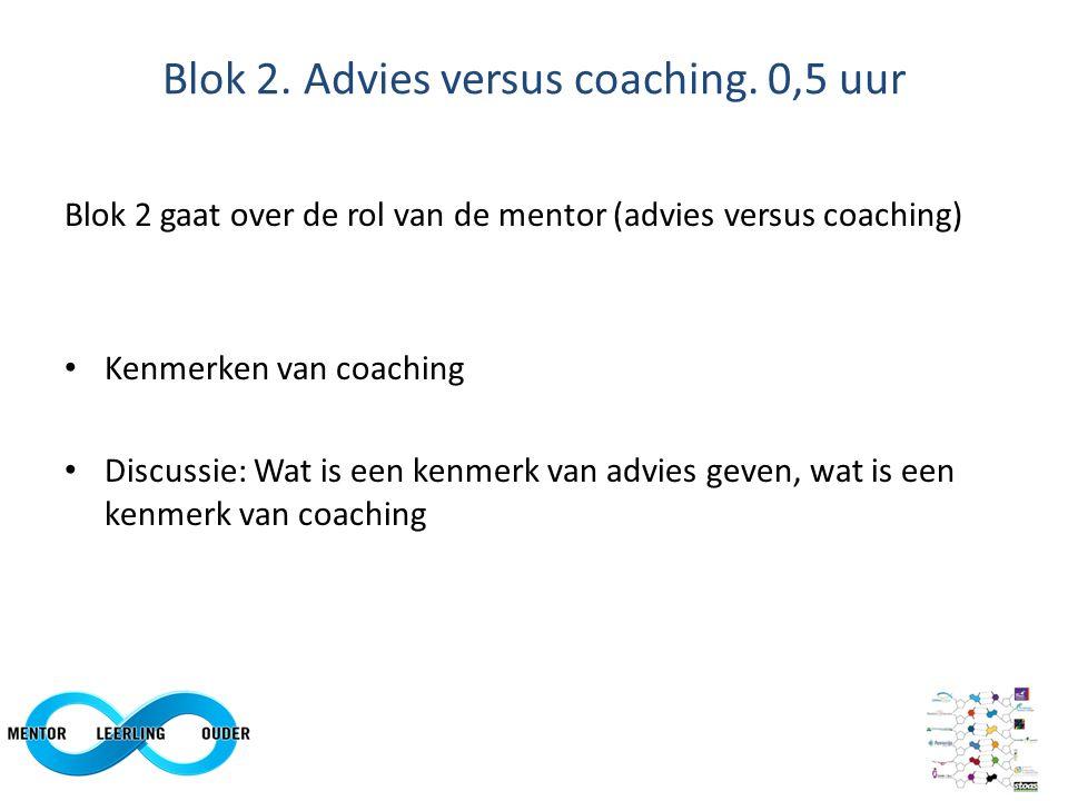 Blok 2. Advies versus coaching.