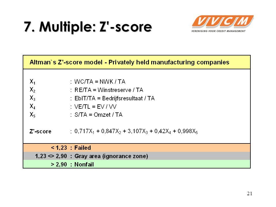 21 7. Multiple: Z -score