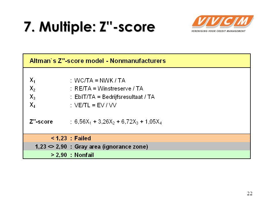22 7. Multiple: Z -score