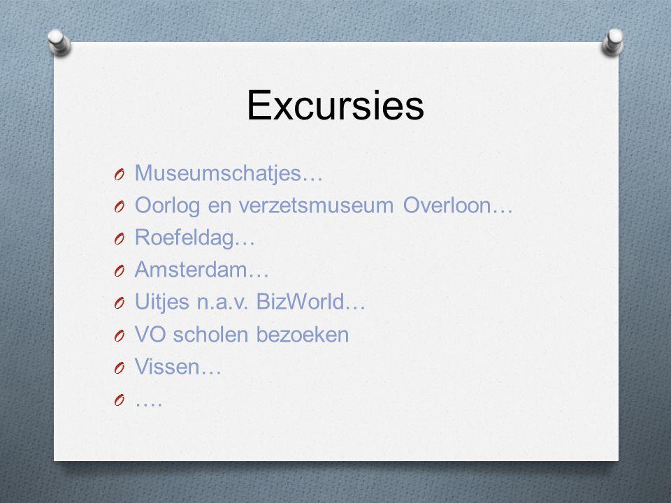 Excursies O Museumschatjes… O Oorlog en verzetsmuseum Overloon… O Roefeldag… O Amsterdam… O Uitjes n.a.v.