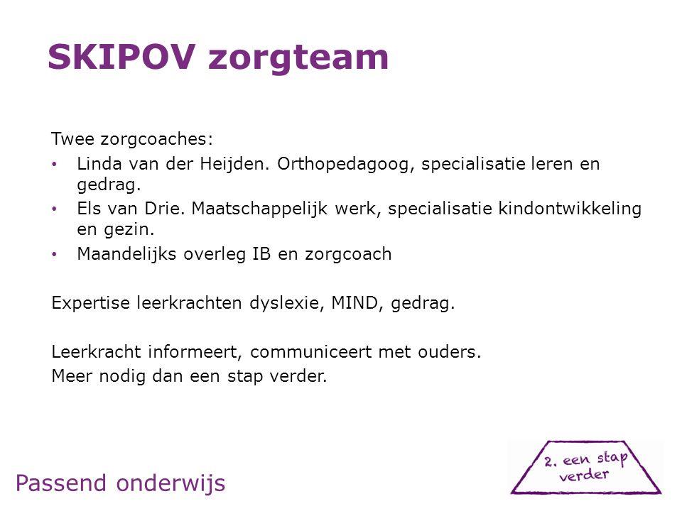 Passend onderwijs Twee zorgcoaches: Linda van der Heijden.