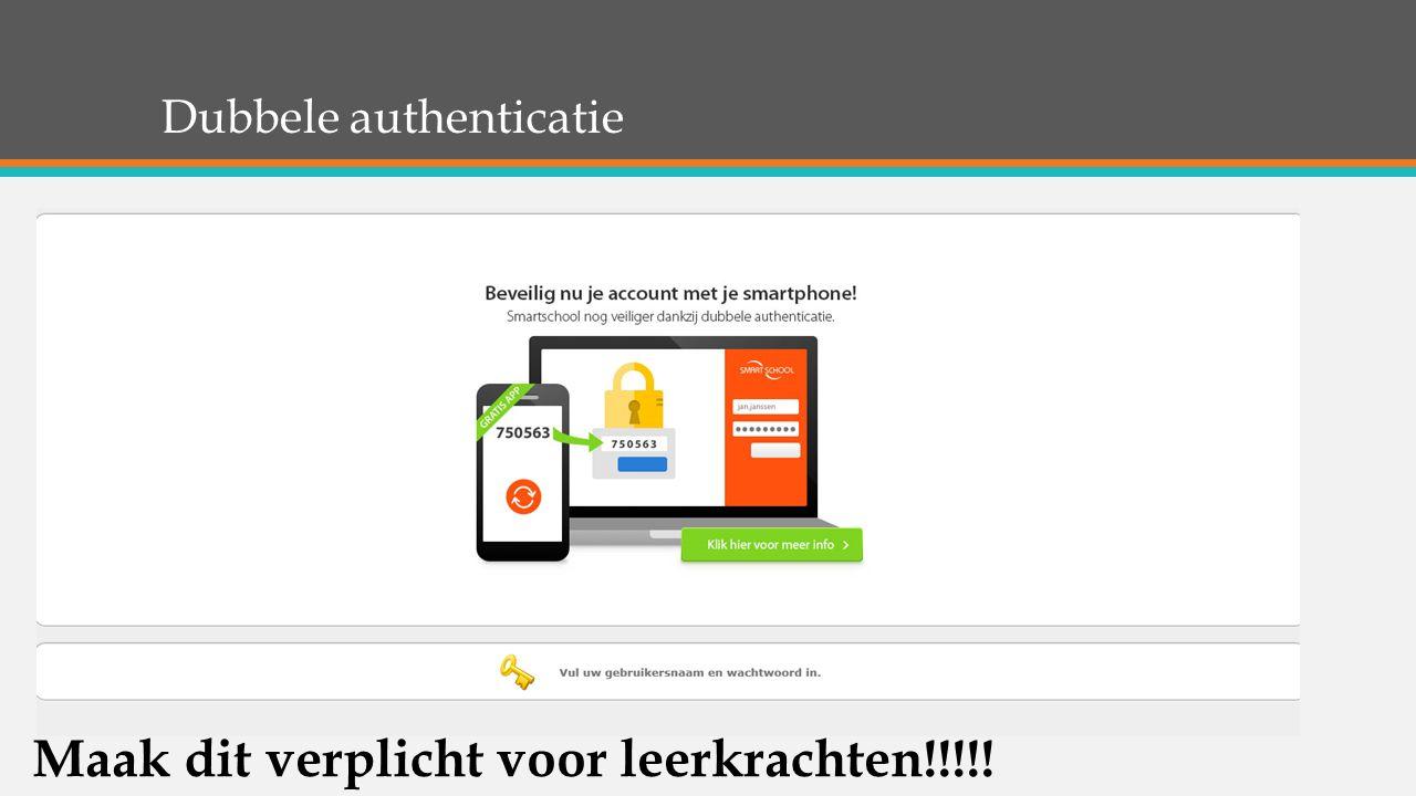 Dubbele authenticatie Maak dit verplicht voor leerkrachten!!!!!