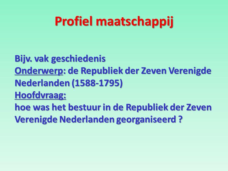 Profiel maatschappij Bijv.