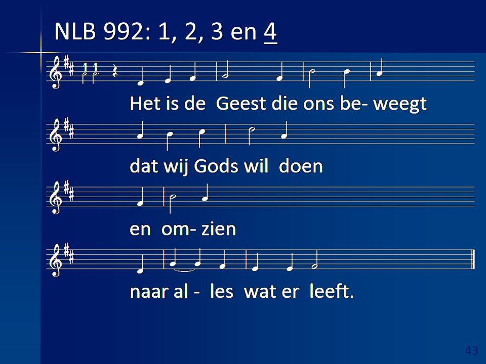 44 Ruimte hieronder vrijhouden! Overdenking aansluitend zingen NLB 991 (in wisselzang!)