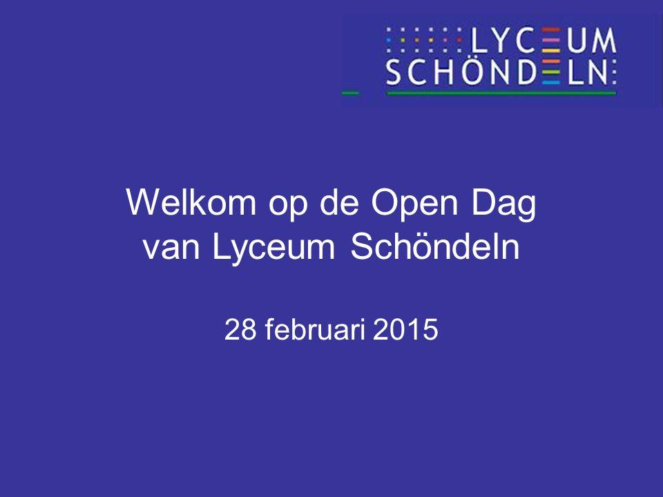 Welkom op de Open Dag van Lyceum Schöndeln 28 februari 2015