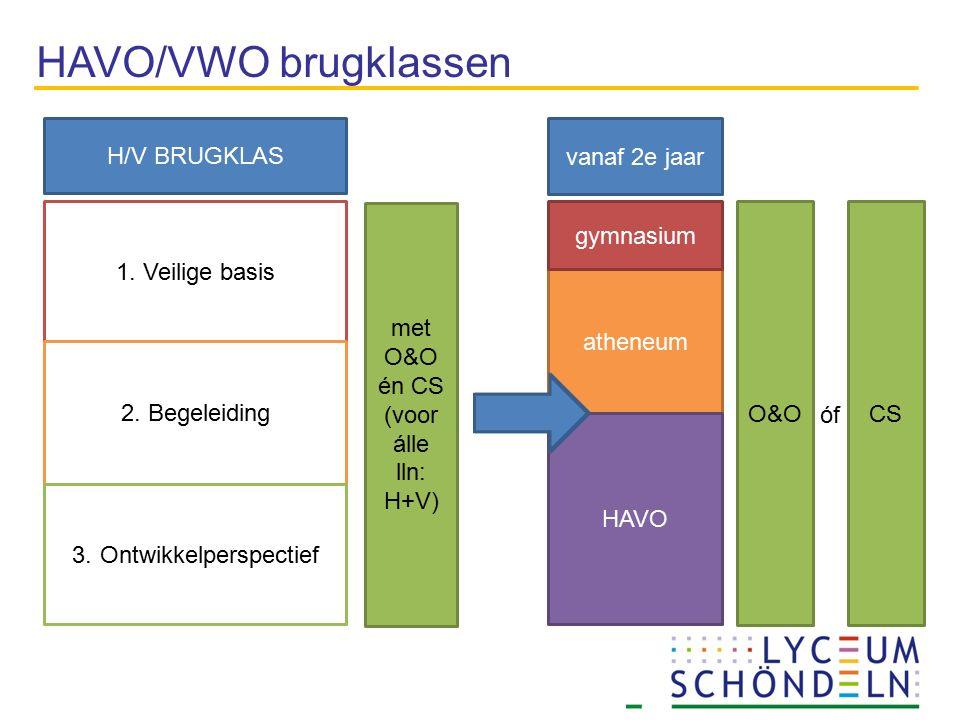 HAVO/VWO brugklassen vanaf 2e jaar H/V BRUGKLAS atheneum HAVO gymnasium 1.
