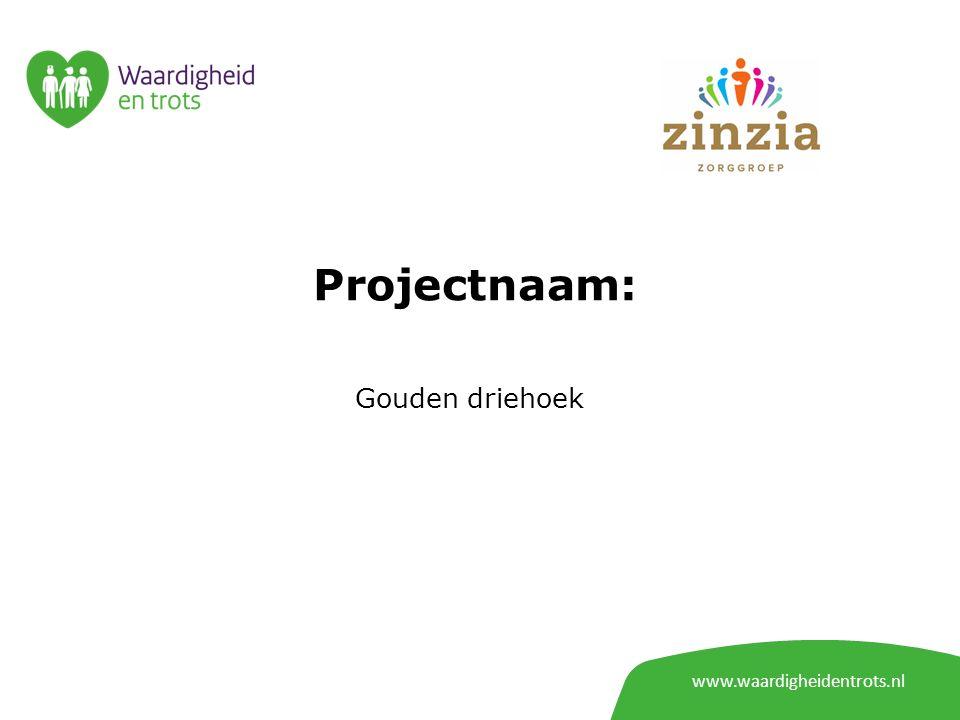 www.waardigheidentrots.nl Projectnaam: Gouden driehoek
