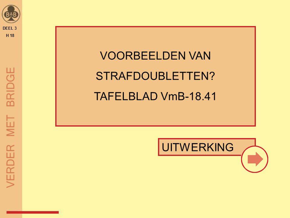 VOORBEELDEN VAN STRAFDOUBLETTEN? TAFELBLAD VmB-18.41 DEEL 3 H 18 UITWERKING