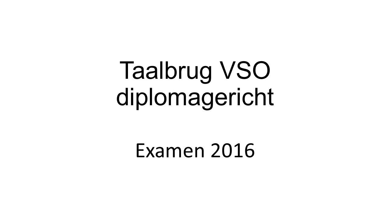 Taalbrug VSO diplomagericht Examen 2016