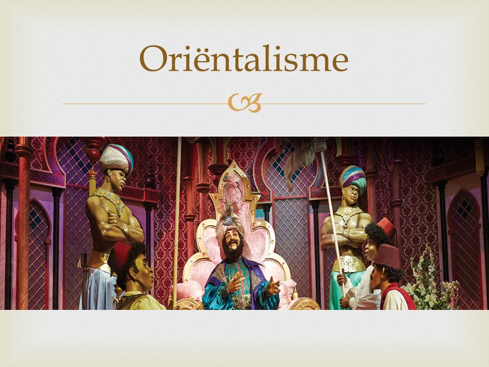  Oriëntalisme in de oudheid '[ The Persians of Aeschylus] is not ornamented by oriental colouring but suffused by it, indeed it represents the first unmistakable file in the archive of Orientalism, the discourse by which the European imagination has dominated Asia ever since by conceptualising its inhabitants as defeated, luxurious, emotional, cruel, and always as dangerous.'