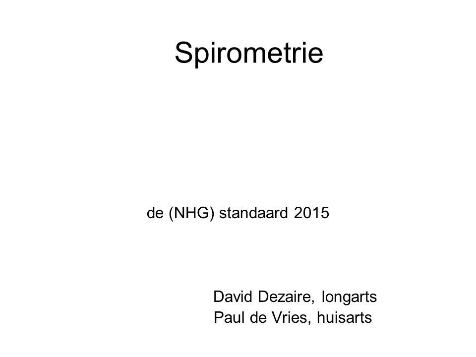 Spirometrie de (NHG) standaard 2015 David Dezaire, longarts Paul de Vries, huisarts