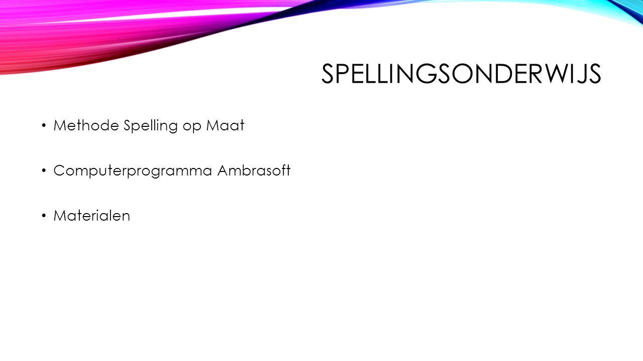 SPELLINGSONDERWIJS Methode Spelling op Maat Computerprogramma Ambrasoft Materialen
