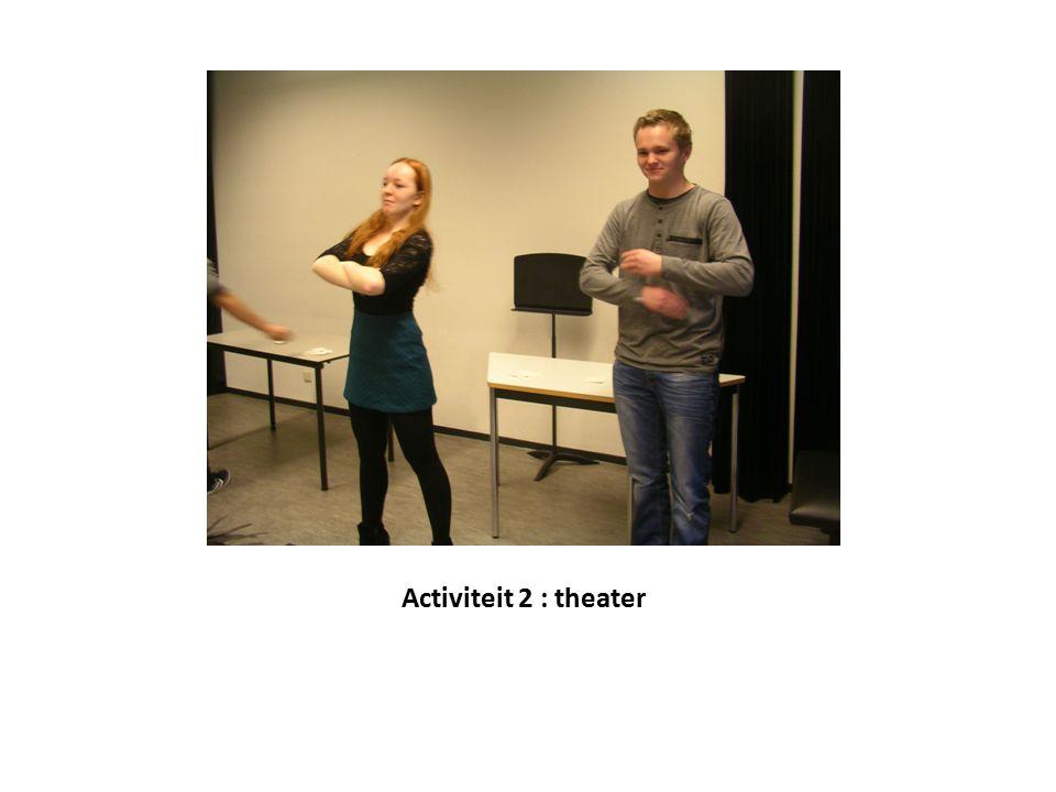 Activiteit 2 : theater