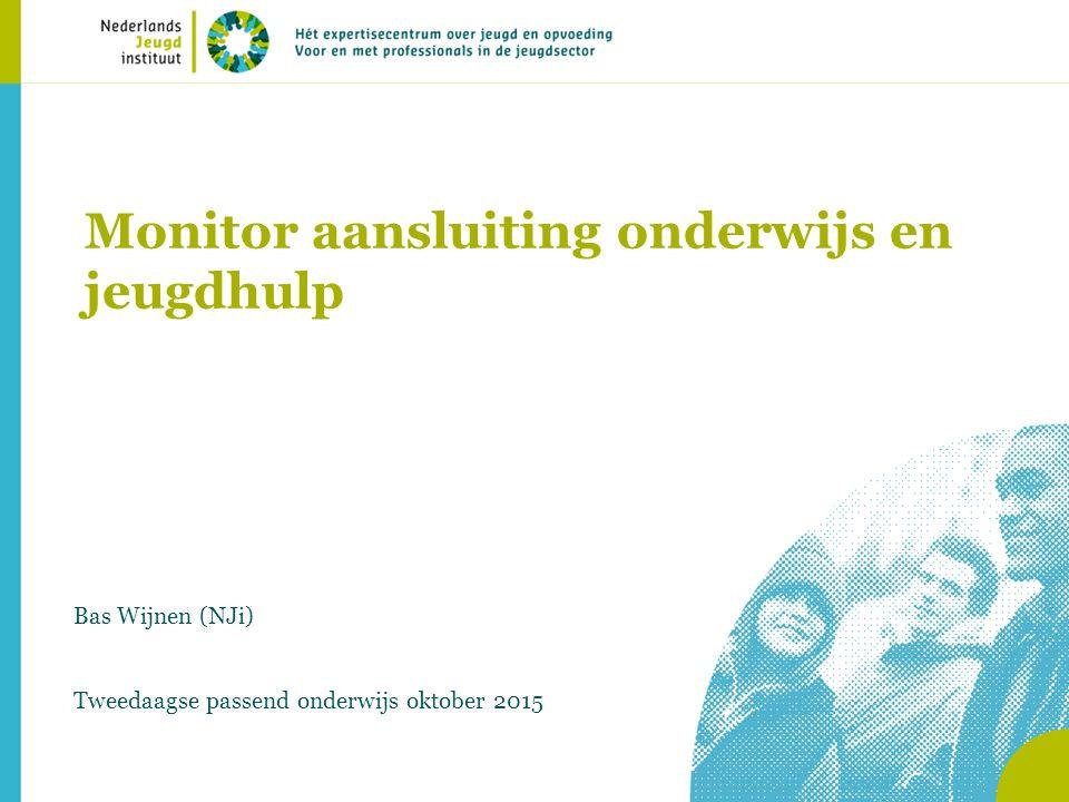 Monitor aansluiting onderwijs en jeugdhulp Bas Wijnen (NJi) Tweedaagse passend onderwijs oktober 2015
