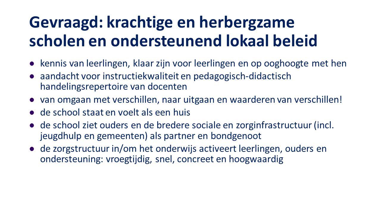Rugzakleerlingen in het regulier onderwijs de Moor e.a.