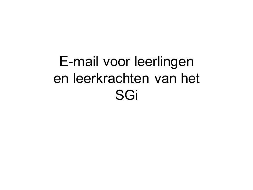 E-mail voor leerlingen en leerkrachten van het SGi