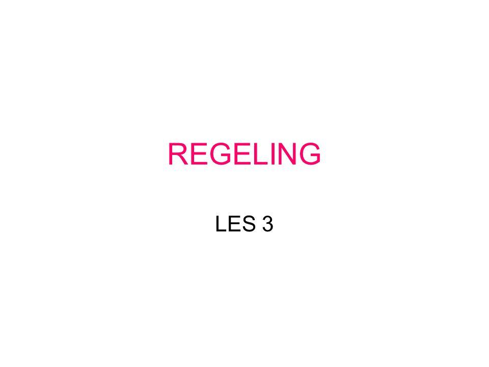 REGELING LES 3