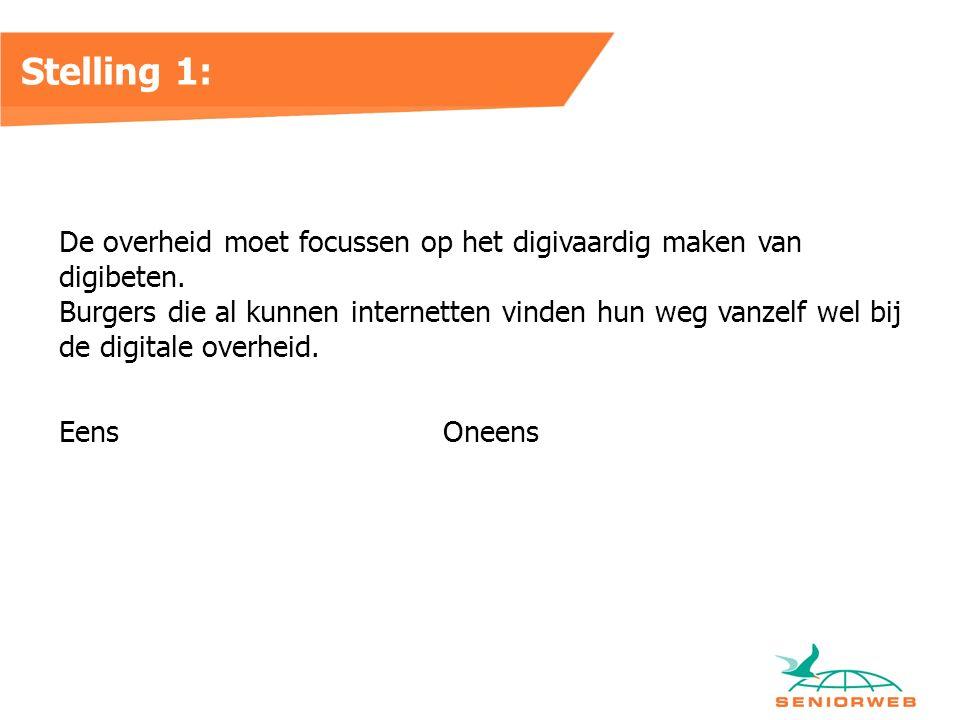 Stelling 1: De overheid moet focussen op het digivaardig maken van digibeten.
