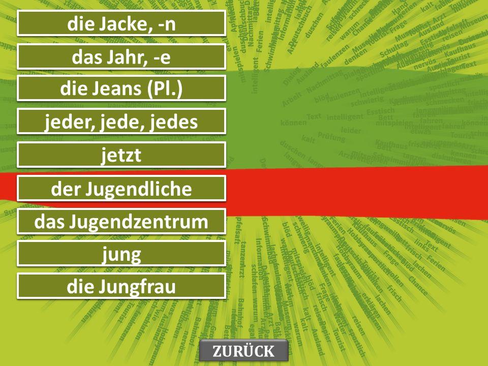 идеја die Idee, -n њен, њихов ihr увек immer у у in ролери die Inlineskates (Pl.) интересовање das Interesse, -n ZURÜCK