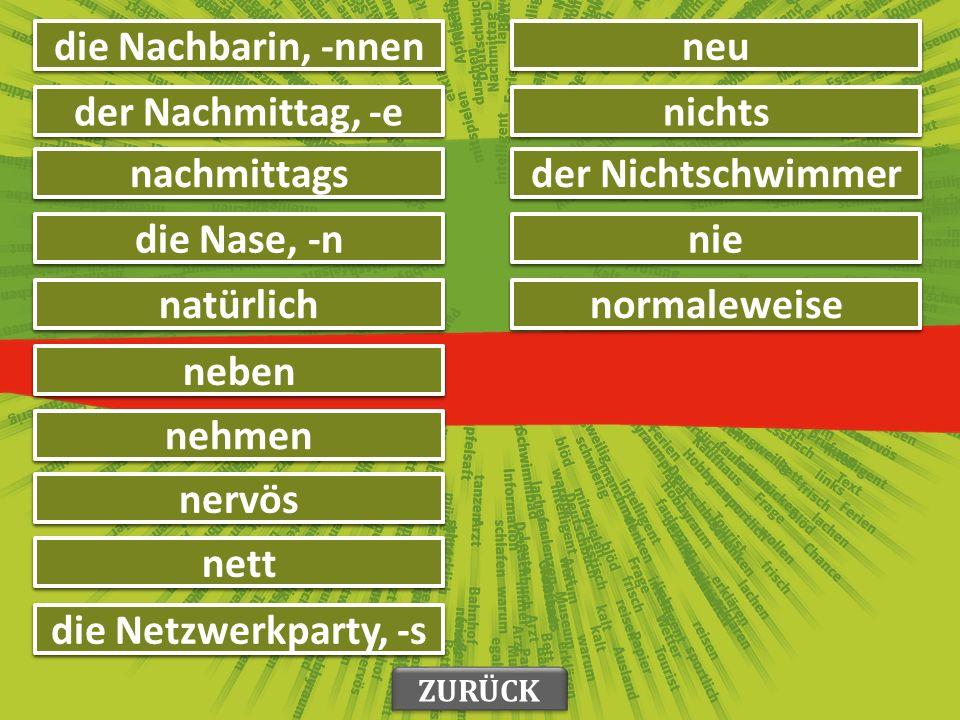 морати müssen матерњи језик die Muttersprache, -n качкет, капа die Mütze, -n ZURÜCK