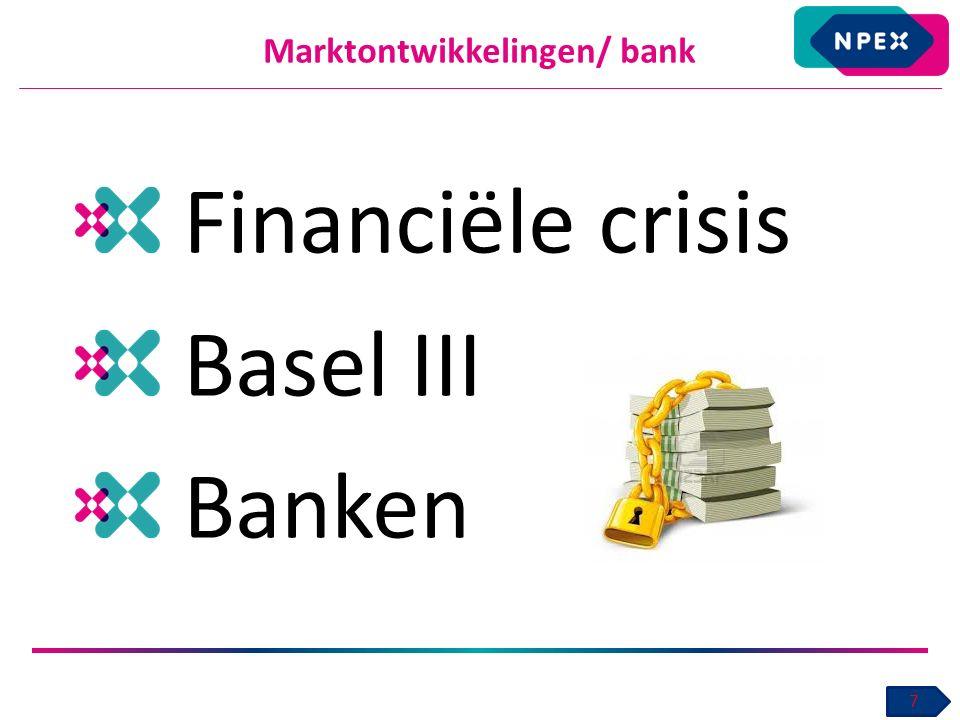 Marktontwikkelingen/ bank Financiële crisis Basel III Banken 7