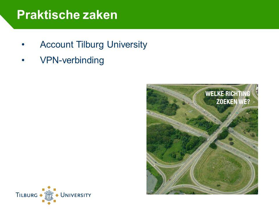 Praktische zaken Account Tilburg University VPN-verbinding