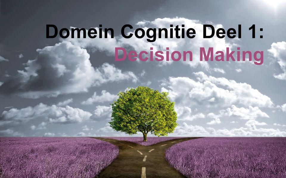 Domein Cognitie Deel 1 ●Hoorcolleges en werkgroepen: ○Neurowetenschap ○Psychologie ○Kunstmatige Intelligentie ●Toetsing per tentamen en groepsopdracht