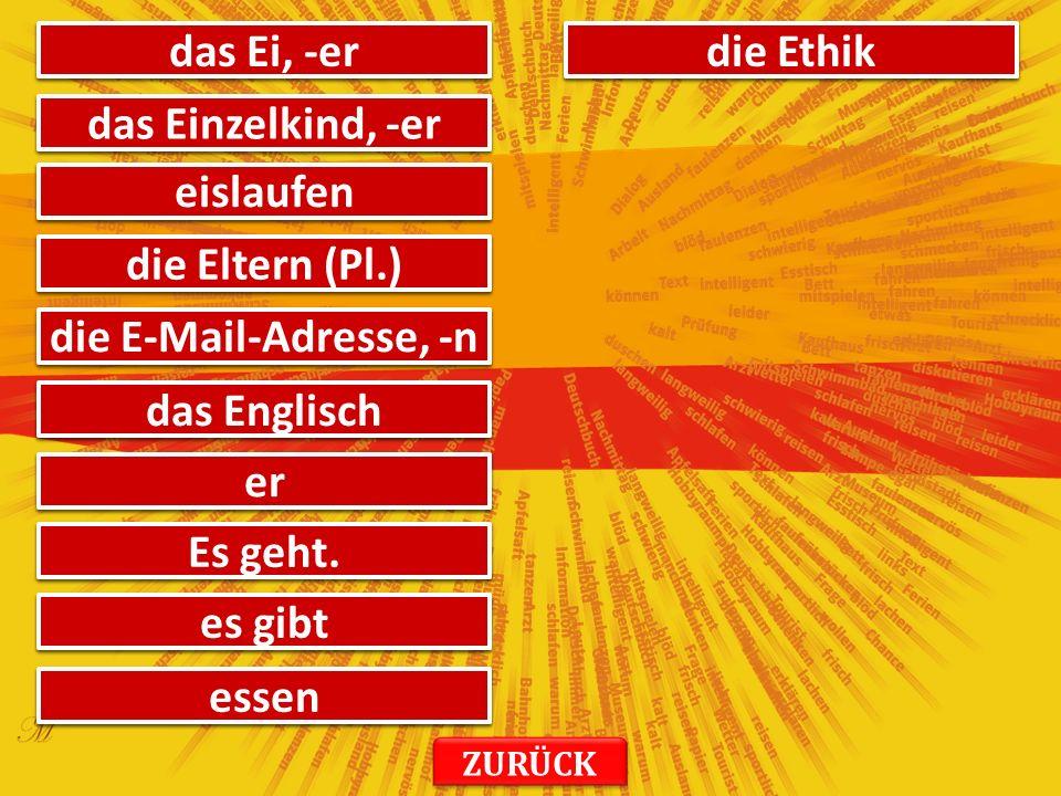 хвала danke онда, тад dann то das трајати dauern твој, твоја dein, deine Немачка Deutschland уторак der Dienstag диктат das Diktat четвртак der Donnerstag глуп doof ти du смети dürfen динамичан dynamisch ZURÜCK