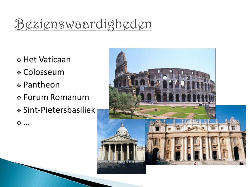  Onafhankelijke ministaat  Zetel van de Rooms-Katholieke Kerk  Woonplaats van de Paus  Belangrijke bezienswaardiheden:  Sint-Pietersplein  Vaticaanse musea