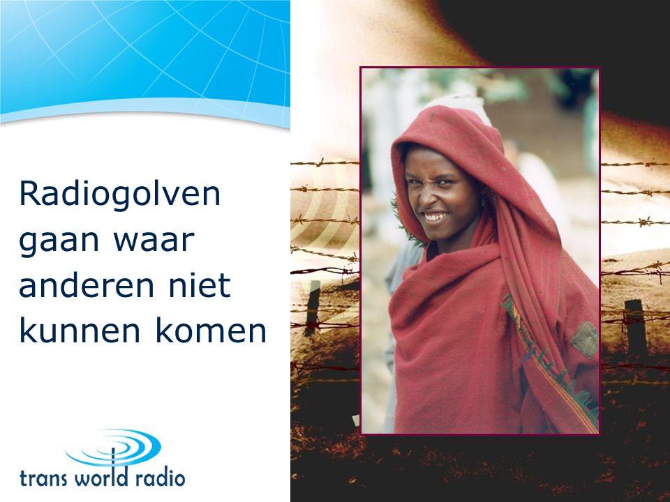 Radiogolven gaan waar anderen niet kunnen komen