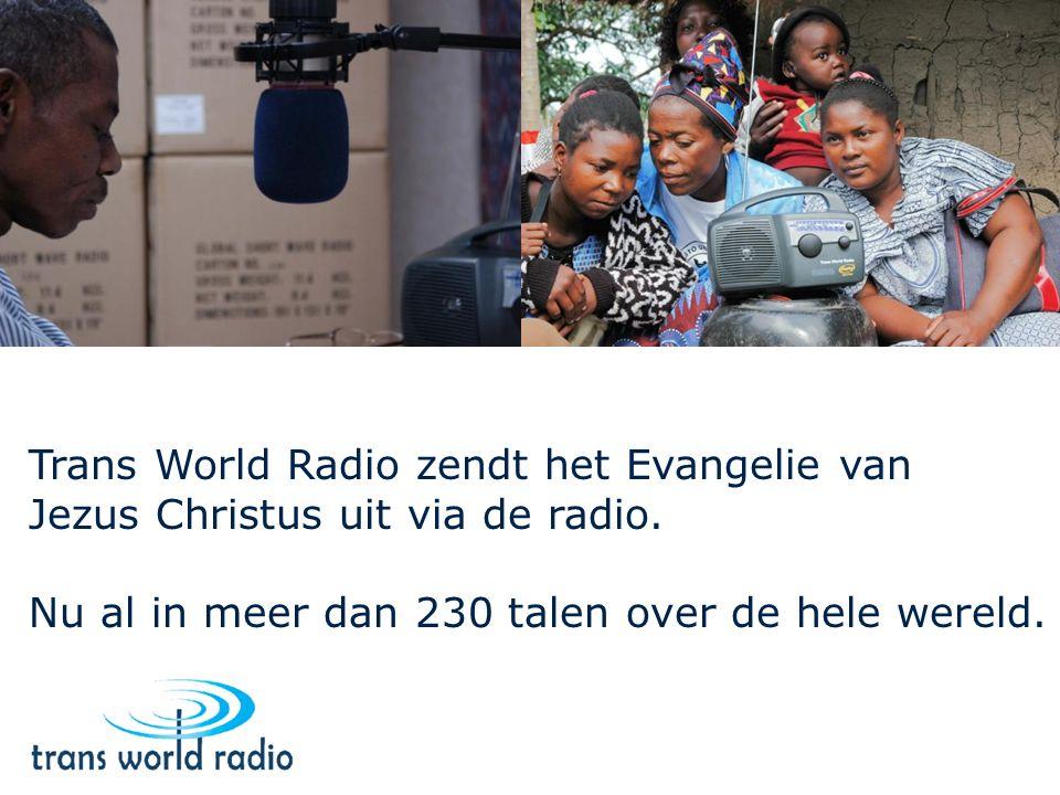 Trans World Radio zendt het Evangelie van Jezus Christus uit via de radio.