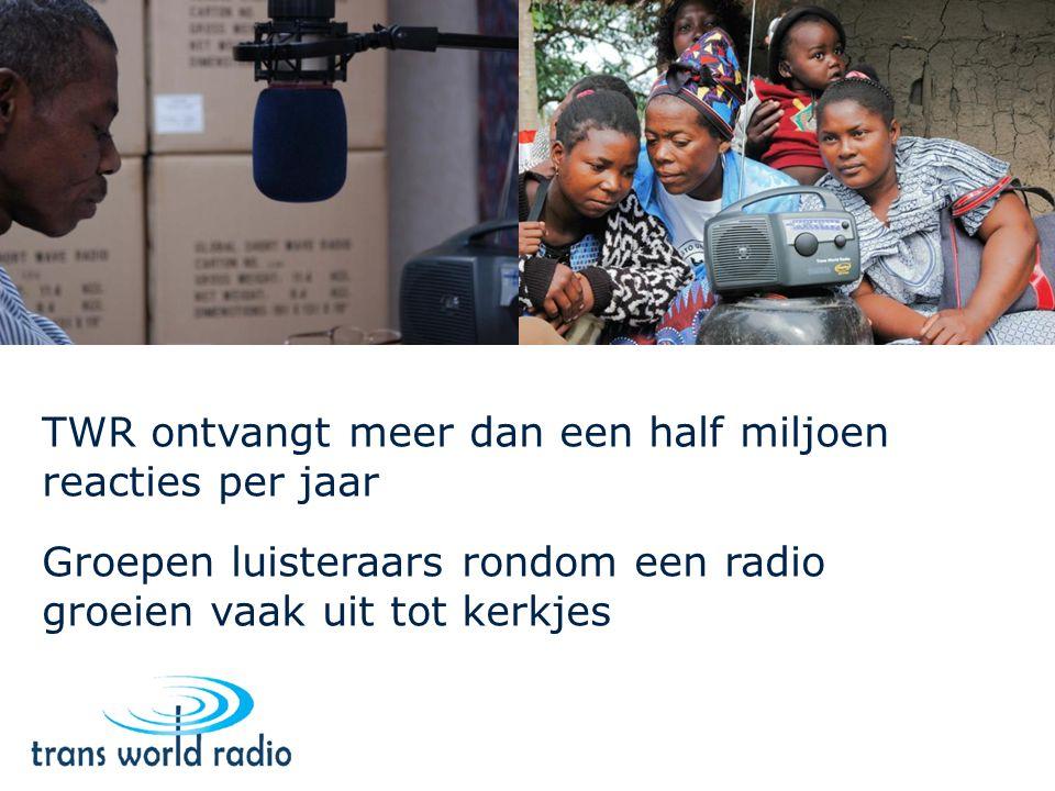 TWR ontvangt meer dan een half miljoen reacties per jaar Groepen luisteraars rondom een radio groeien vaak uit tot kerkjes