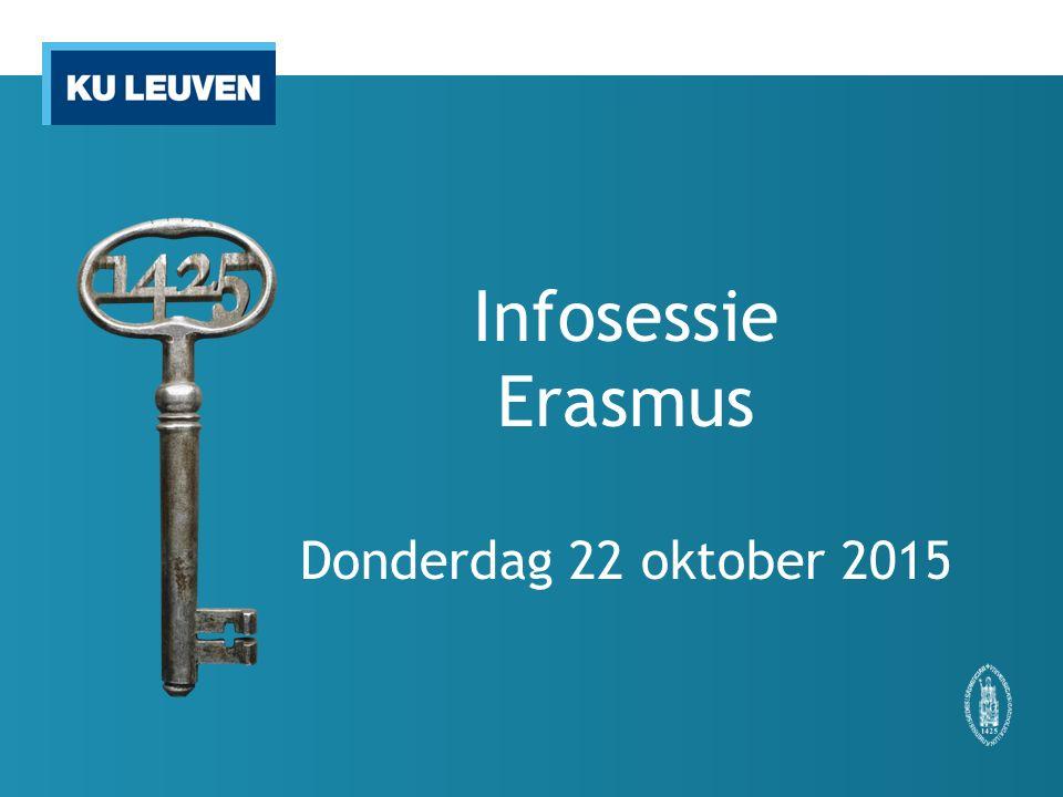 Infosessie Erasmus Donderdag 22 oktober 2015