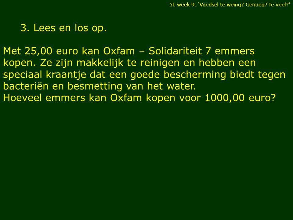 3.Lees en los op. Met 25,00 euro kan Oxfam – Solidariteit 7 emmers kopen.