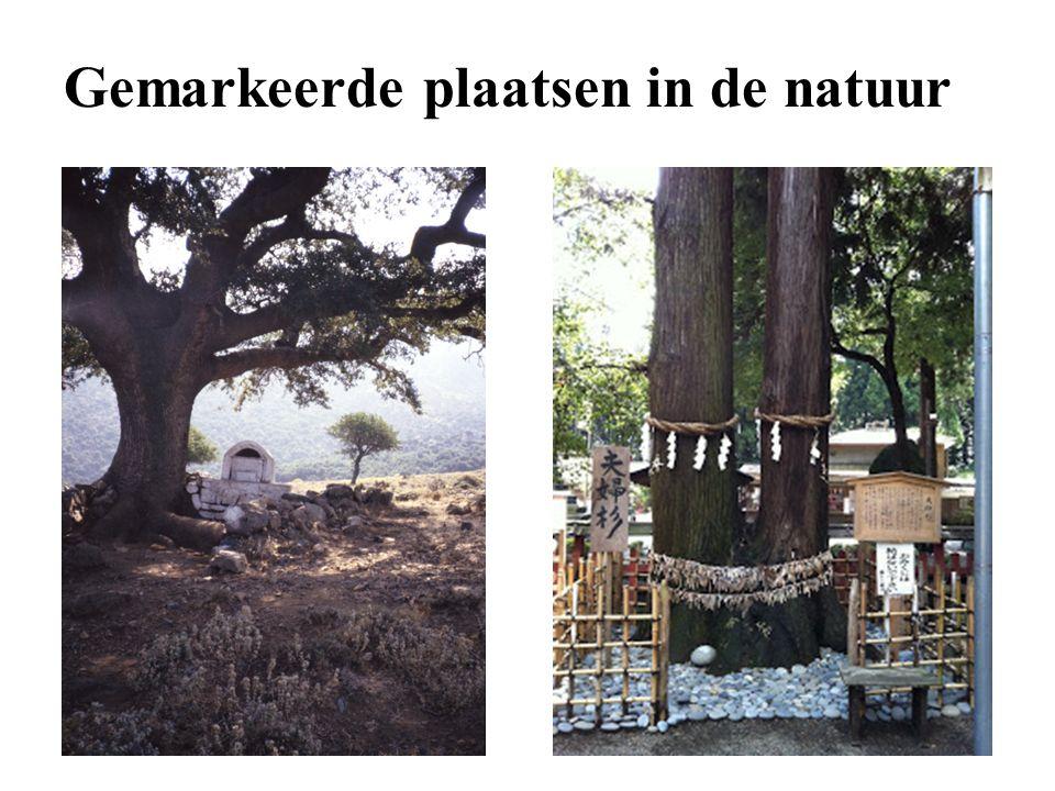 Gemarkeerde plaatsen in de natuur