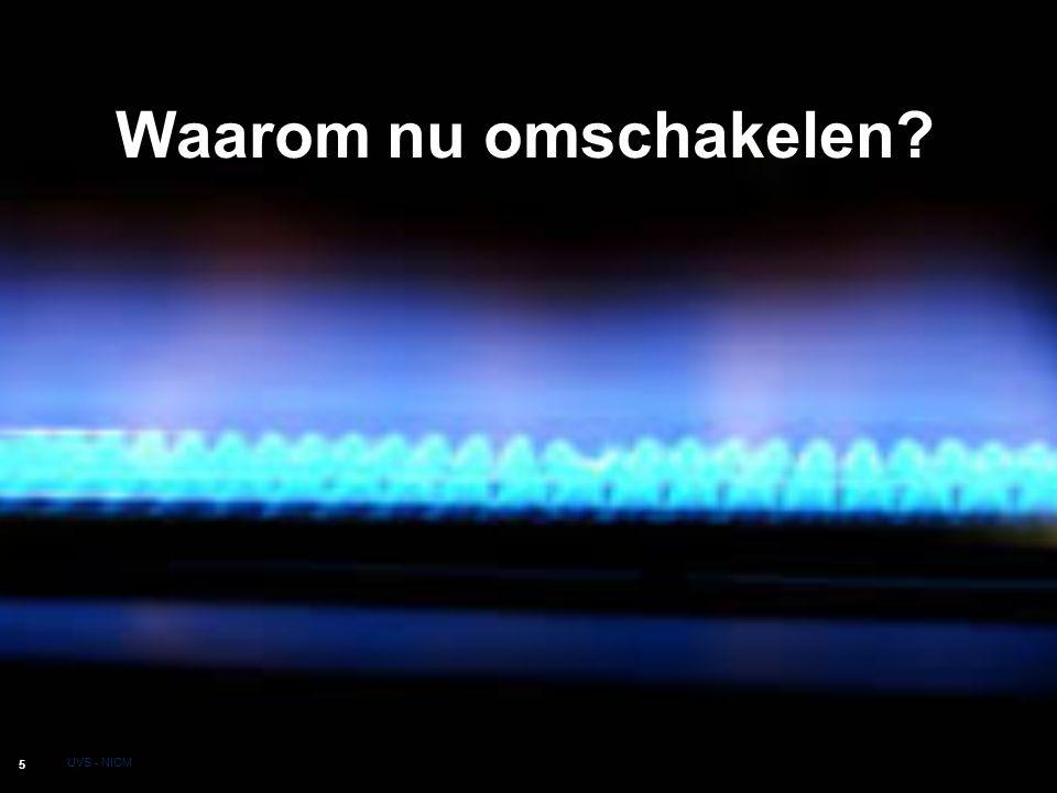 Aardgas en milieu 6 UVS - NICM Zuiverste fossiele brandstof Minder stikstofoxide,CO 2, roet en fijn stof Geen wegtransport