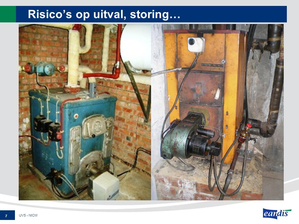 Besparing 8 UVS - NICM Lager energieverbruik Lagere onderhoudskost Minder bijkomende kosten Lagere Aankoopprijs ketel