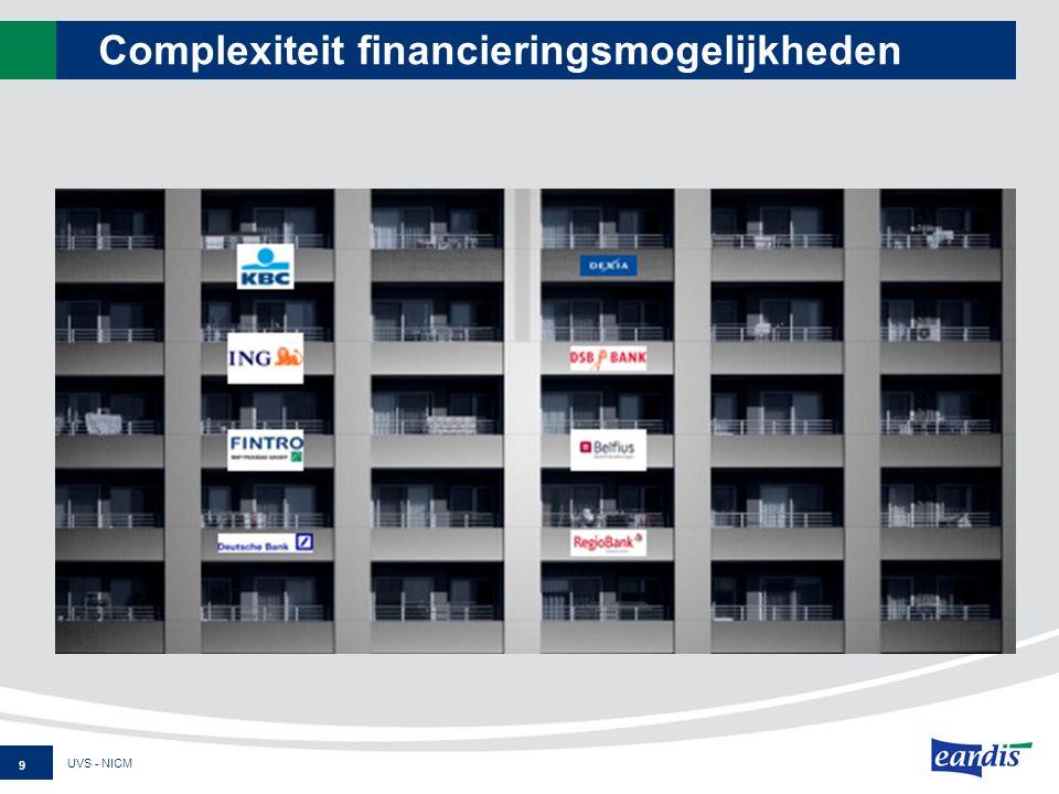 Complexiteit financieringsmogelijkheden UVS - NICM 9