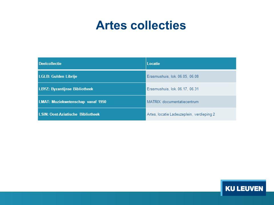 Artes collecties DeelcollectieLocatie LGLB: Gulden LibrijeErasmushuis, lok.