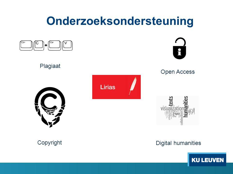 Plagiaat Copyright Digital humanities Open Access Onderzoeksondersteuning