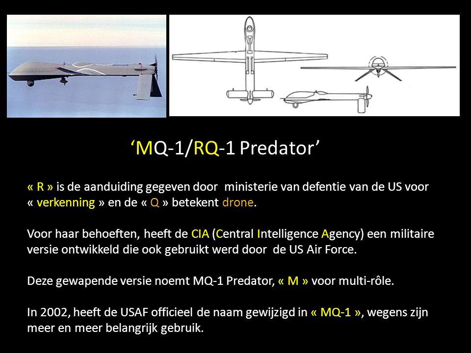 'MQ-9' Reaper Satcom Het inwendige: sateliet antenne, veel elektronica, infrarood optiek gevoelig voor de kleuren van de oceaan.