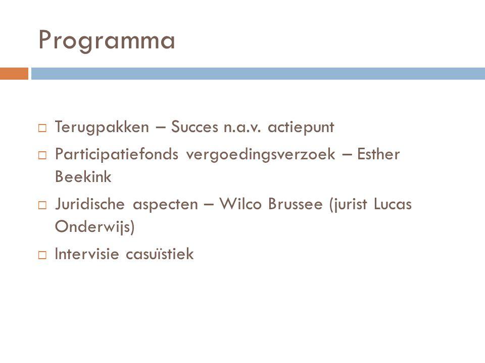 Programma  Terugpakken – Succes n.a.v.
